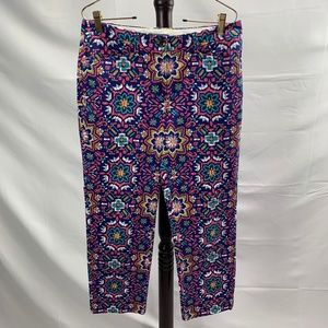 Colorful Mid Rise Straight Leg Pants Land's End